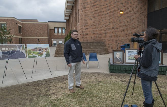 Travis Barnes, director of facilities, was interviewed by Lakeland Public Television after the event.