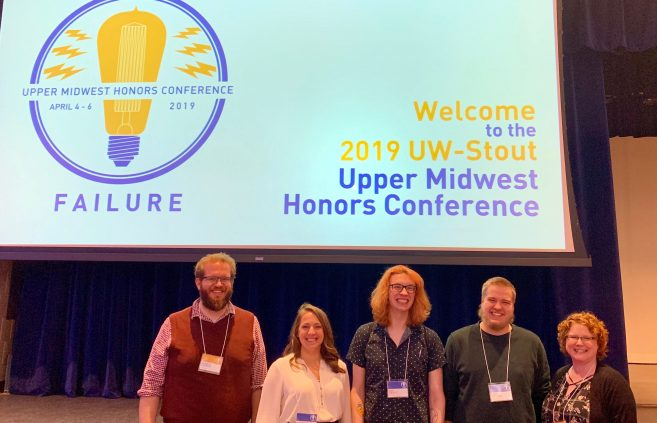 Honors program members at the Upper Midwest Regional Honors Conference.