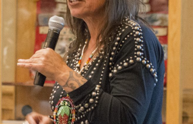 Winona LaDuke speaking at the AIRC in February