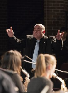 Scott Guidry directs the BSU Wind Ensemble