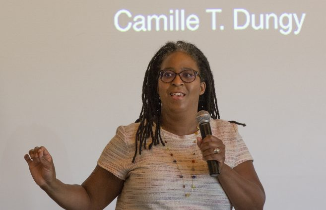 Camille Dungy speaking during her Craft Talk.