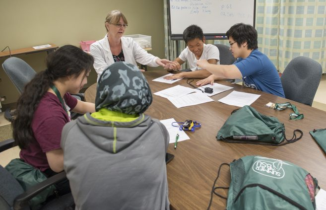 Students at Scrubs Camp.