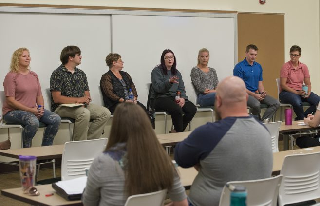 Panel discussion at the Special Education Conference.