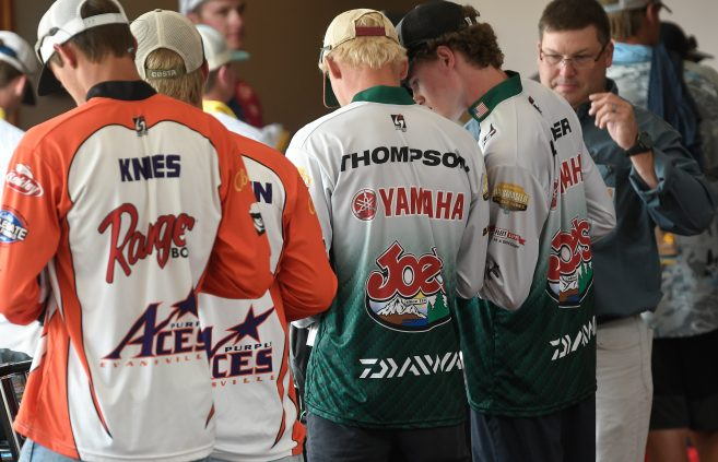 Brian Linder and Nathan Thompson at the 2019 Carhartt Bassmaster College Series