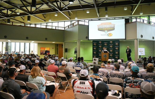 People gathered for the 2019 Carhartt Bassmaster College Series