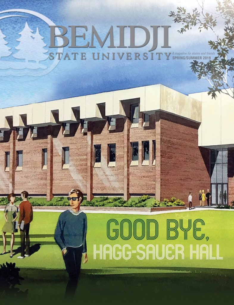BSU Magazine Cover with Hagg-Sauer Hall imaged