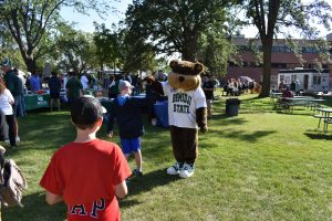 Bucky the Beaver at the Community Appreciation Day event.
