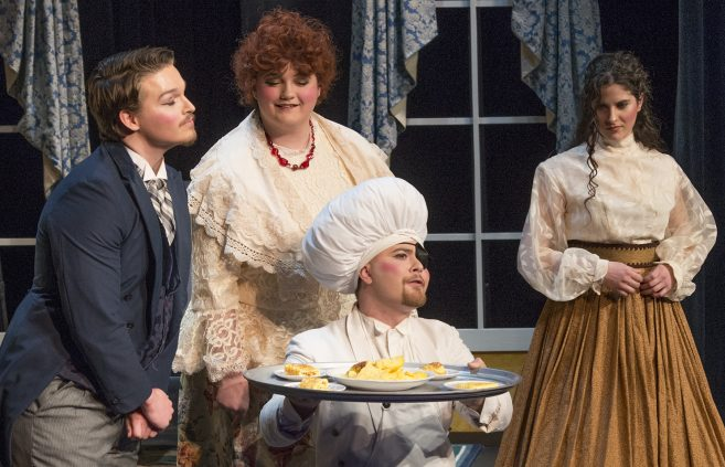 "Students in this year's opera theater production, ""Doctor Miracle"""