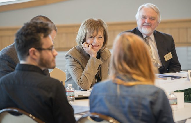 U.S. Senator Tina Smith meets with BSU and NTC students, faculty and staff.