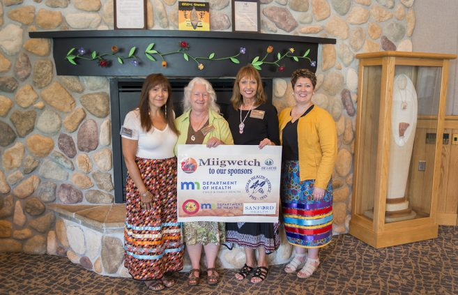 Dr. Mary Fairbanks and Dr. Misty Wilkie with Minnesota Department of Health representatives Wendy Kvale and Karla Decker Sorby.
