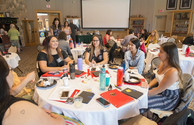 Students at the Indigenous Nursing Conference.
