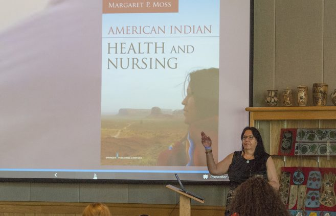 Dr. Margaret Moss speaking at the Indigenous Nursing Conference.