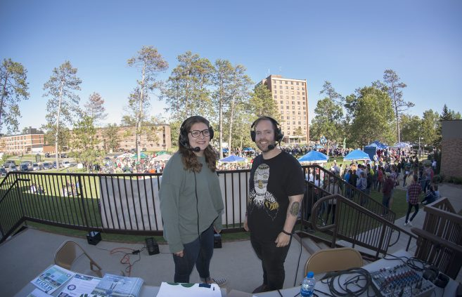 Student radio station FM90 live streaming Community Appreciation Day.