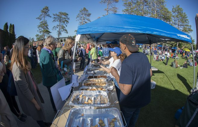 Mediterranean Gyros & Hummus at Community Appreciation Day.