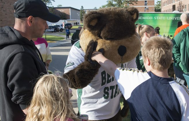 Bucky the Beaver at Community Appreciation Day.