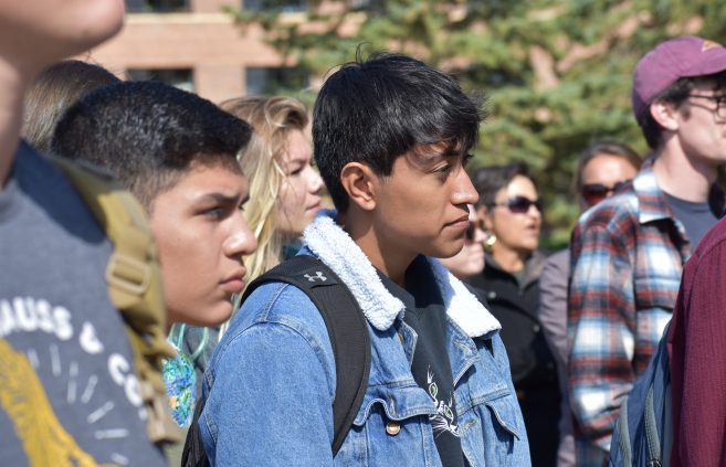 Students at the American Indian Resource Center 12th annual Day of Welcome.