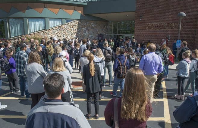 Students, faculty and staff gathered at the AIRC for the annual Day of Welcome.