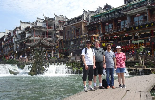 Dr. Dave Massaglia in China.