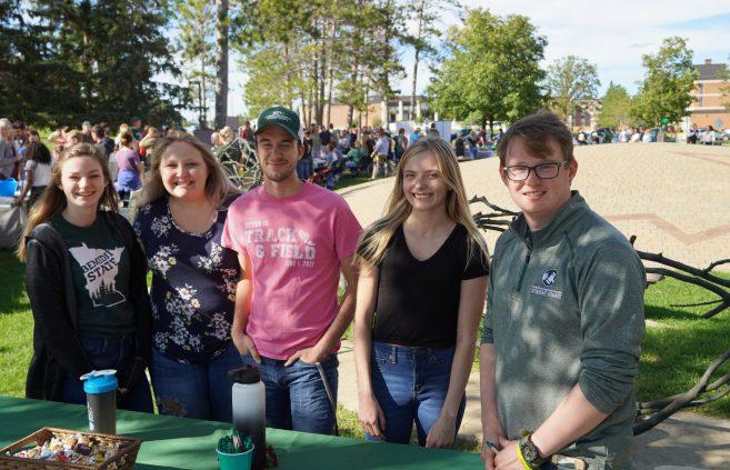 Students at the Beaver Organization Bash.
