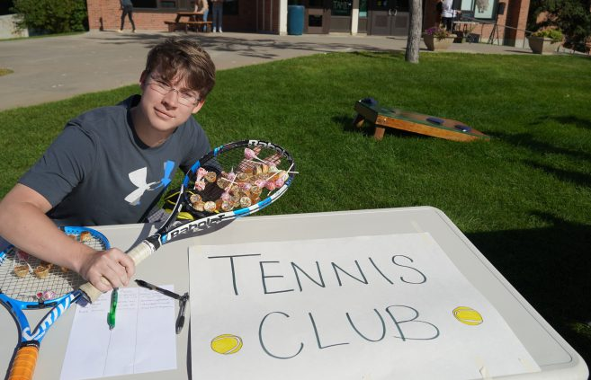 Tennis Club at the Beaver Organization Bash.