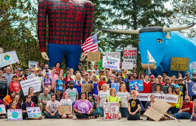 Participants at the climate march.