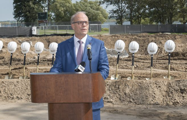 Jay Cowles, chair of the Minnesota State Board of Trustees, praised BSU's planning processes and perseverance to see the Hagg-Sauer project through this important phase.
