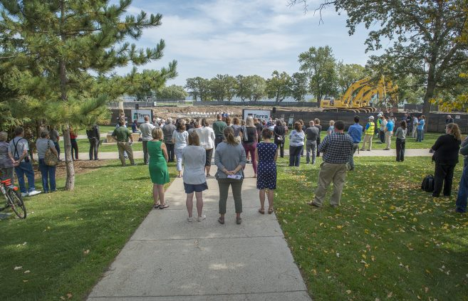 Attendees at the groundbreaking ceremony.