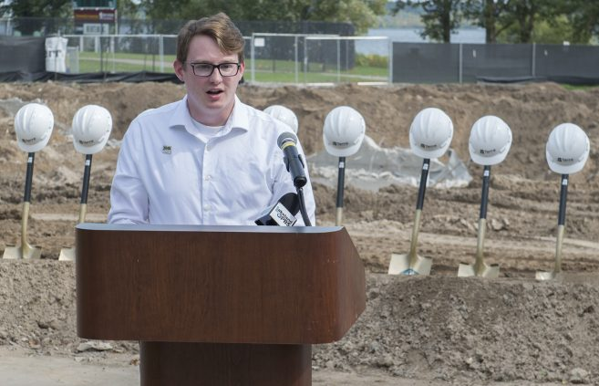 Matthew Sauser, BSU student body president, shared his excitement for the future.
