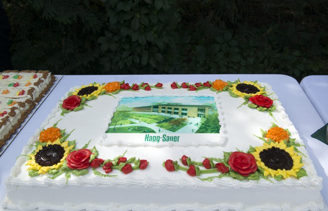 Birchmont Gold cake was served after the ceremony.