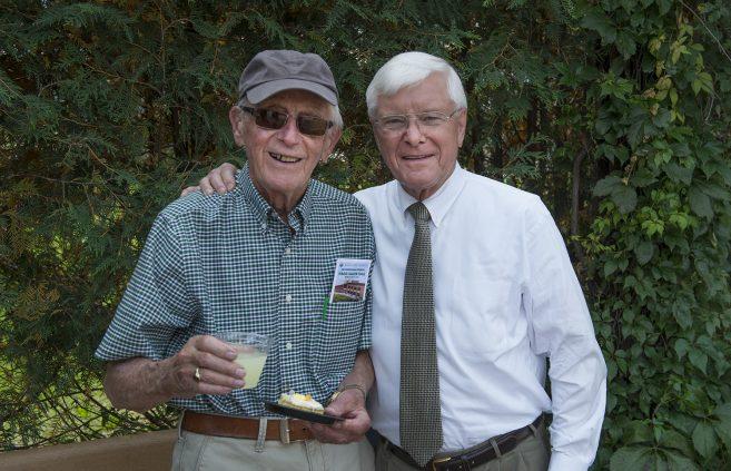 Roger Moe, Minnesota State Board of Trustees, and Art Lee, professor emeritus of history.