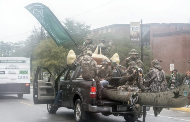 BSU's Ducks Unlimited chapter in the Homecoming parade.