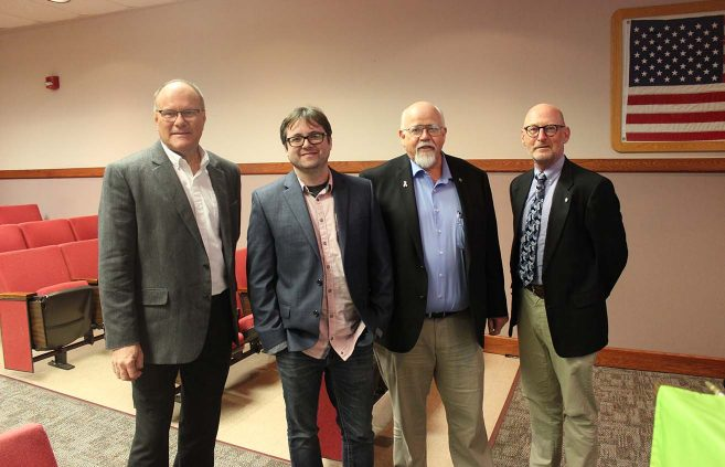 Photo of BSU team: L to R: Lyle Meulebroeck, Mike Lund, Dave Towley and Jim Barta