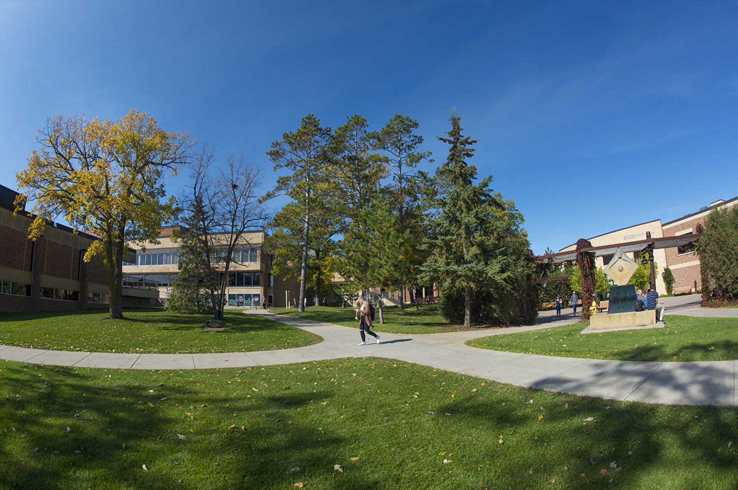 Students on campus