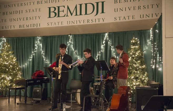 Student musicians performing