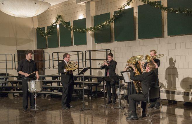 BSU Brass Quintet performing