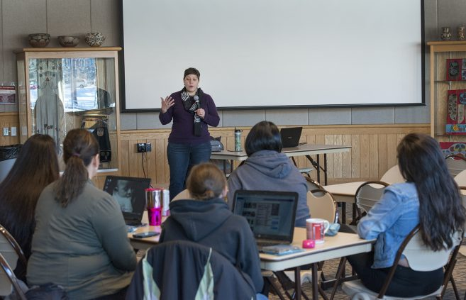 Leslie Harper discussed indigenous food, land and health.
