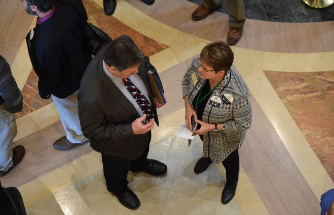 BSU President Faith Hensrud at Minnesota State Day at the Capitol.