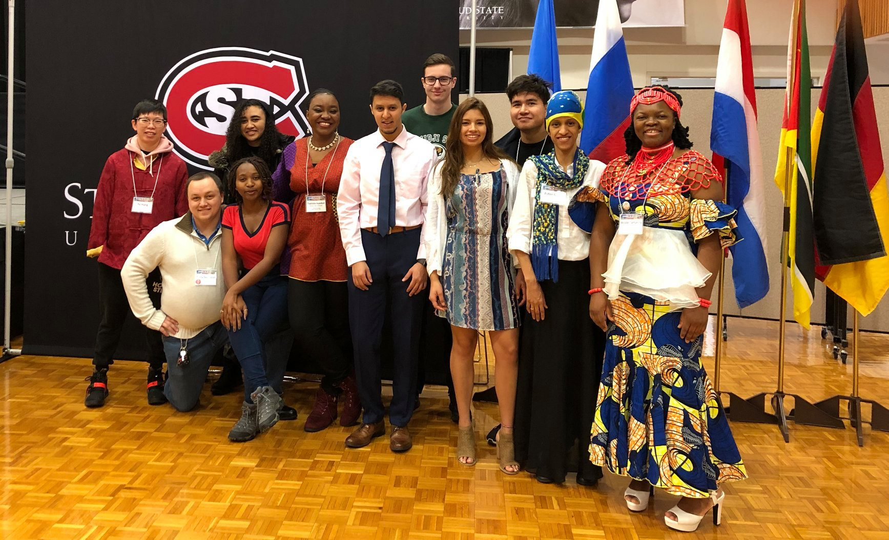 Students at the annual power in diversity conference