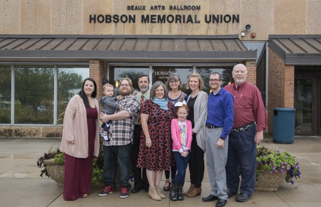 The family of Hobson Memorial Union namesake C.V. Hobson was on hand to help commemorate the union's 50th anniversary.
