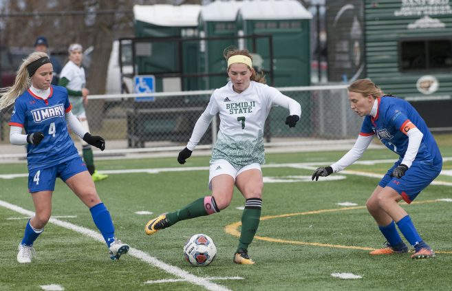 BSU's women's soccer program, under the direction of head coach Jim Stone, assembled an undefeated 2018 regular season (17-0-1 overall, 14-0-1 Northern Sun Intercollegiate Conference) and won an NCAA Tournament game for the first time in its history.