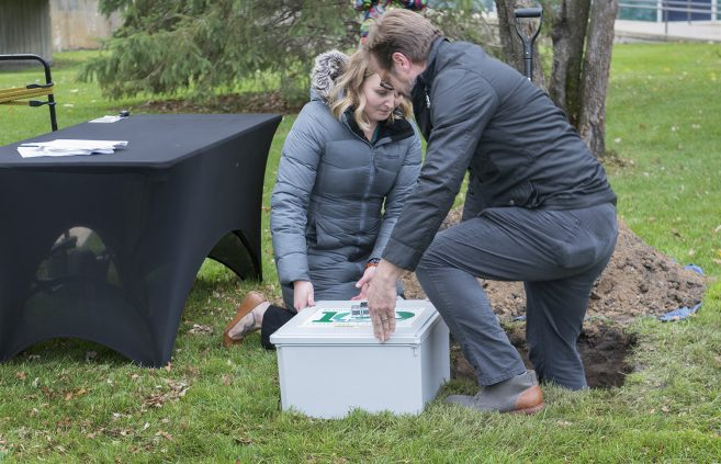 One of BSU's last formal events during its Bemidji State Century celebration came in September 2019, when it planted a time capsule intended to be opened by future caretakers of Bemidji State University.