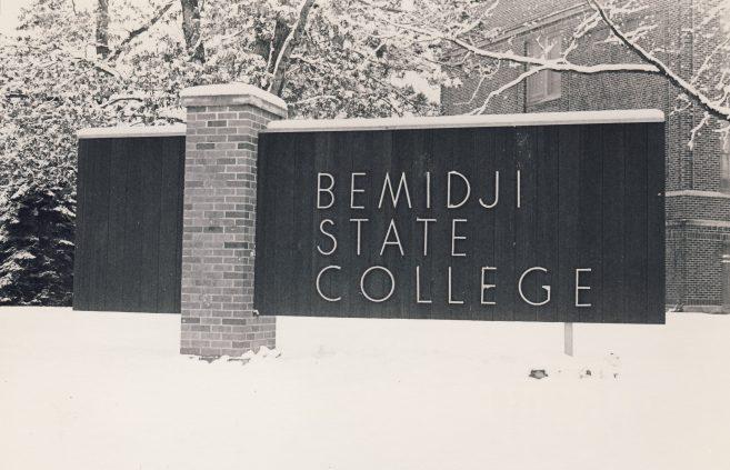 Bemidji State College became Bemidji State University in 1975.