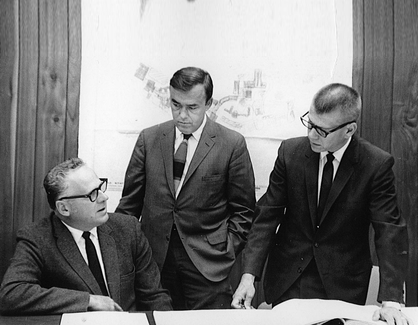 Carlson (far right) with colleagues