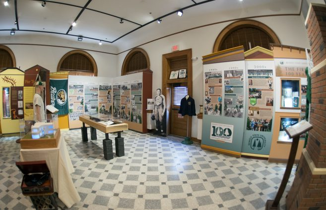 The Beltrami County Historical Society opened an exhibit celebrating Bemidji State University's Centennial year in June 2019