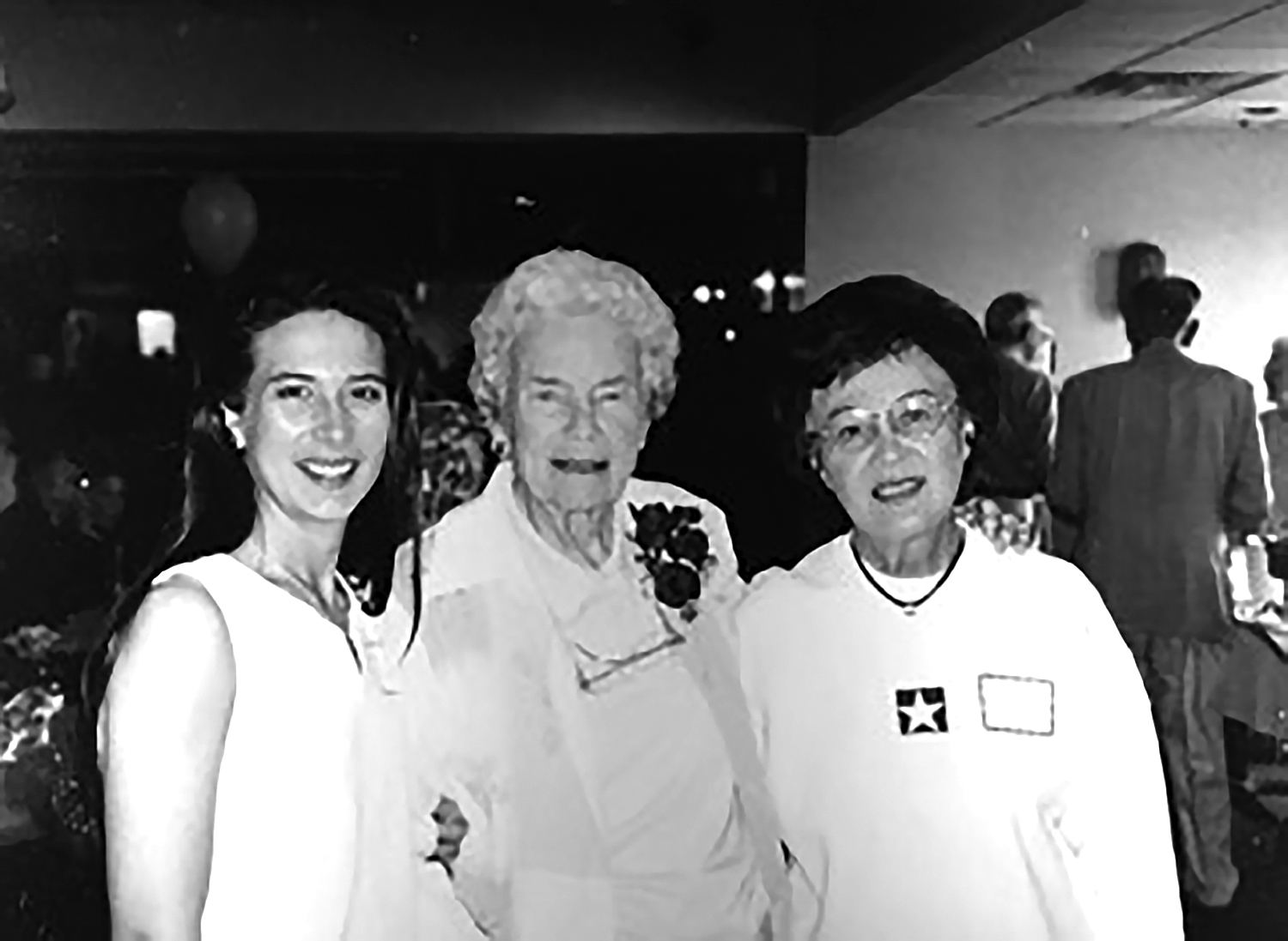 Mrs. C (far right) with daughter (far left) Suzie Langhout