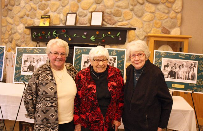 Dr. Pat Rosenbrock, Ruth Howe and Betsy McDowell were honored as pioneers of BSU women's athletics — Howe and McDowell as founders and Rosenbrock as the program's historian — at the October 2018 social to launch the year-long celebration of the 50th anniversary of women's athletics.