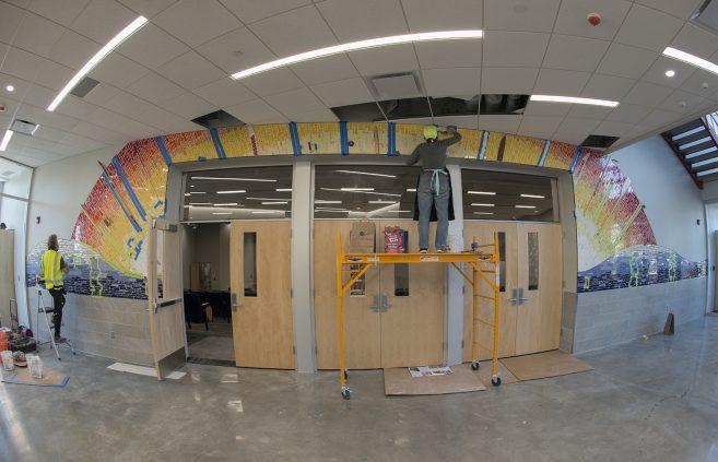 mosaic installaion