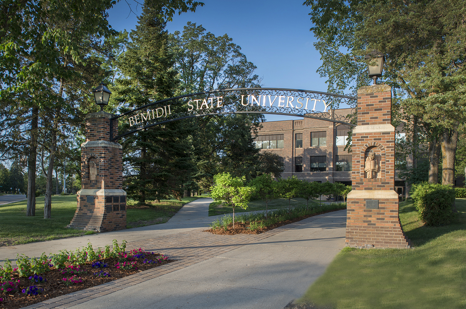 The iconic Bemidji State archway