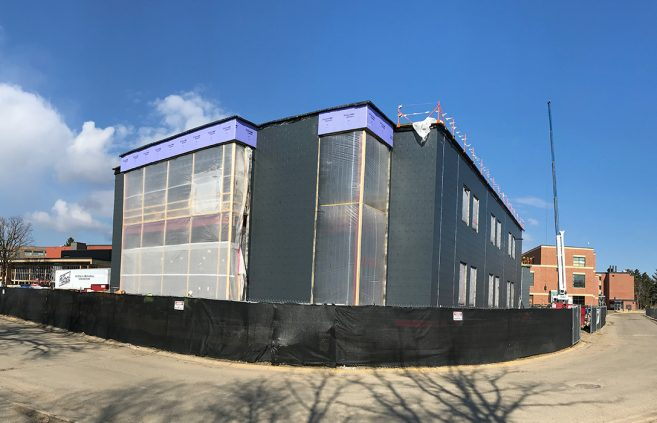 COVID-19 did not slow down progress on the new Hagg-Sauer Hall, completed this fall