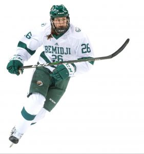 Claire DeGeorge, a senior forward on the Beaver Hockey women's team